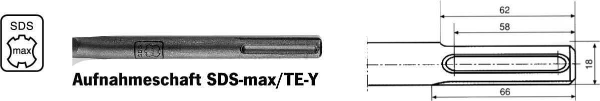 plochý sekáč L 400 mm SDS-max ECO