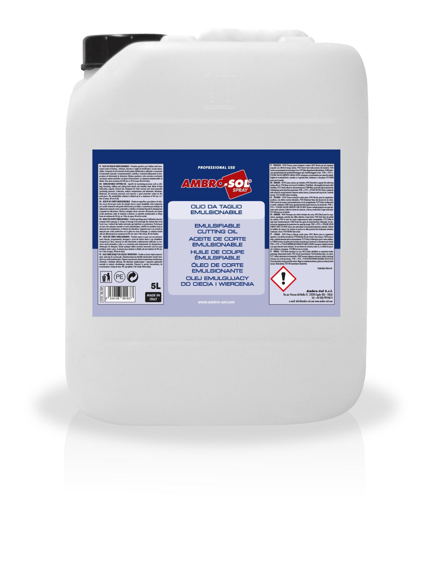 Rezný emulgovateľný olej 5000 ml