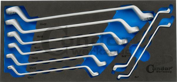 Foam vložka Kľúč očko-očkoNr. 2140/8T 1/3, 8-dielna., 6-22 mm