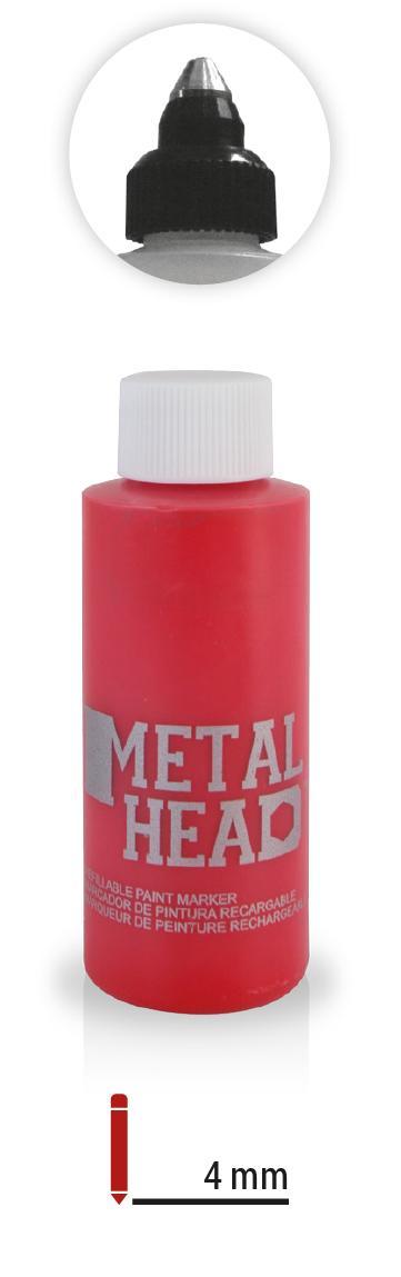 Popisovač s kovovou hlavicou 50ml červený RED