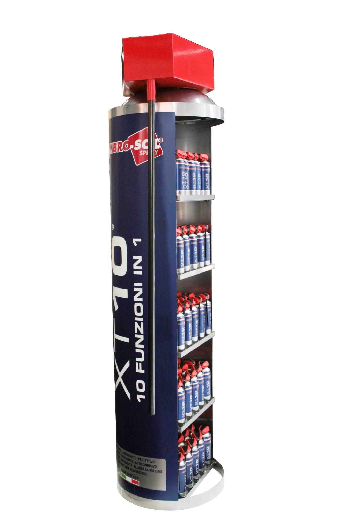 Výstavný stojan pre technické produkty XT10- 150 plechoviek