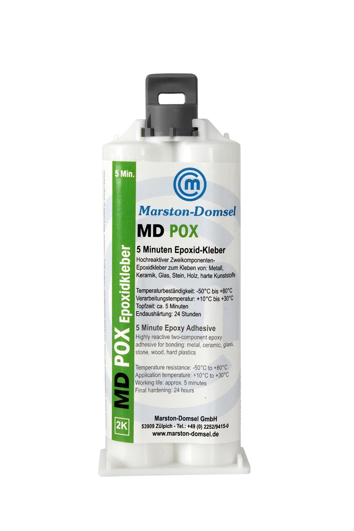 MD POX 5 Min 2-zložkové epoxidové lepidlo dvojitá kartuša 50g