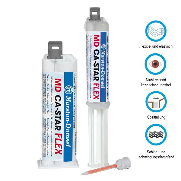 MD-CA Star FLEX 4:1 dvojitá striekačka 10g
