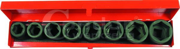 """Kovaný nástavec-sada, 8-dielna., 3/4"""", CrMo, 6-hran 22-38 mm"""