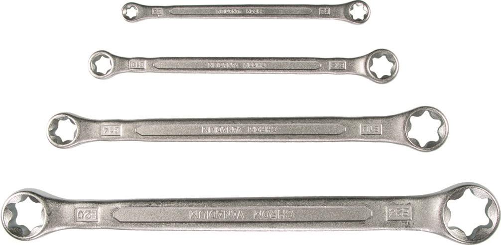 X Sada kľúčov očko-vidlica, 4-dielna., E-Profil E 6-24 Xvyradené