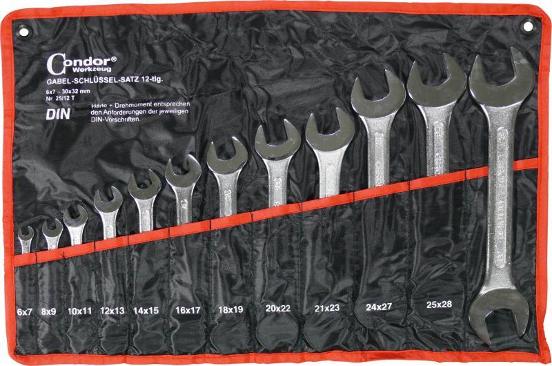 Sada kľúčov vidlica-vidlica, 12-dielna., 6-32 mm
