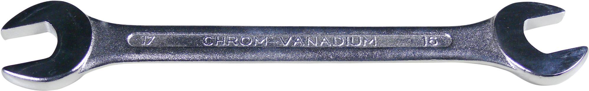 Kľúč vidlica-vidlica, 18x19 mm