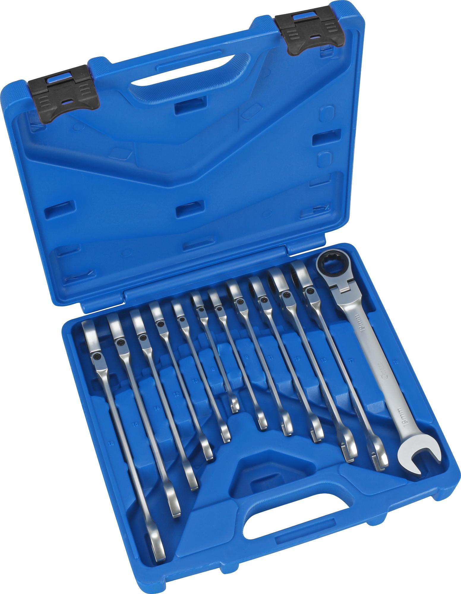 Sada račňových kľúčov očko-vidlica , 12-dielna., kĺb, 8-19 mm