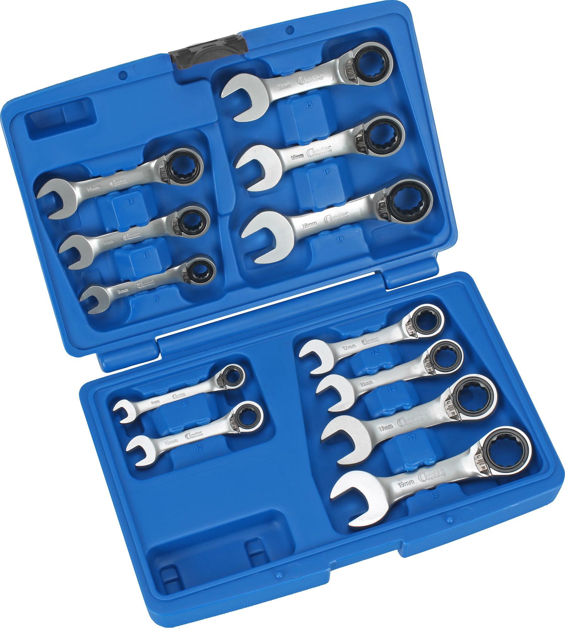 Sada račňových kľúčov očko-vidlica, 12-dielna.,