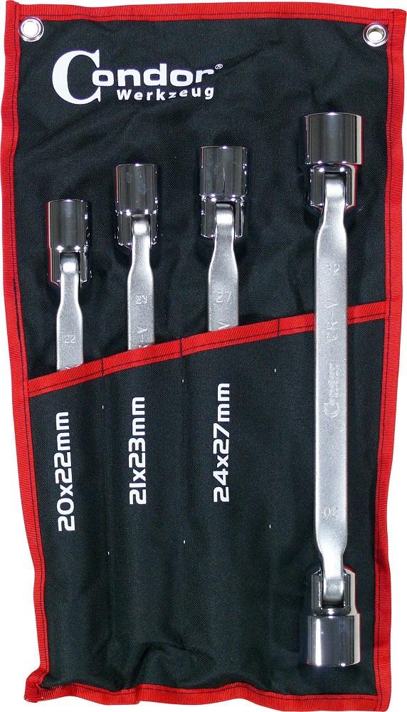 Kĺbové kľúče sada, 4-dielna., 6-hran 20-32 mm