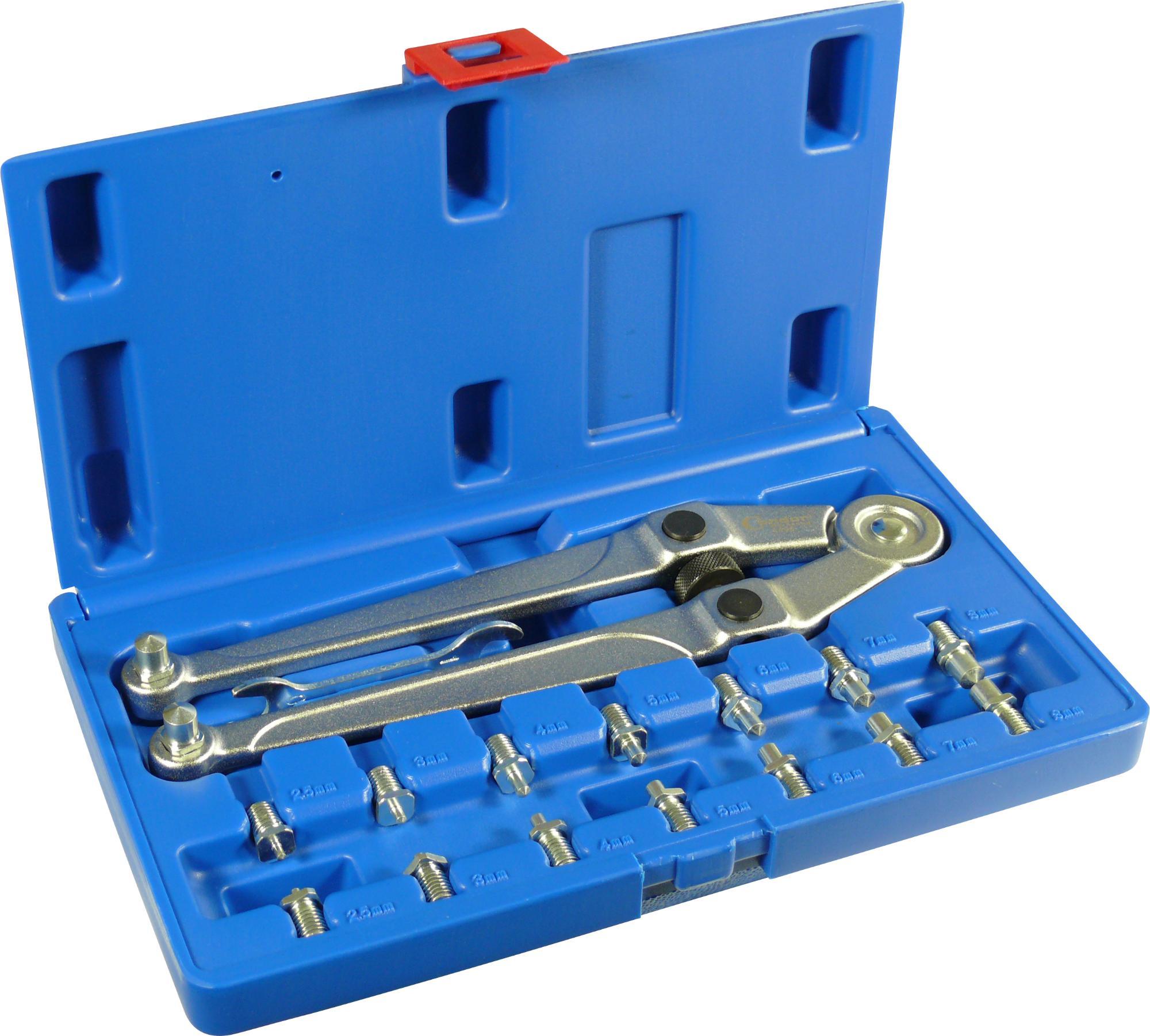 Kľúč-sada, 17-dielna., 8 priemer 2.5-9 mm