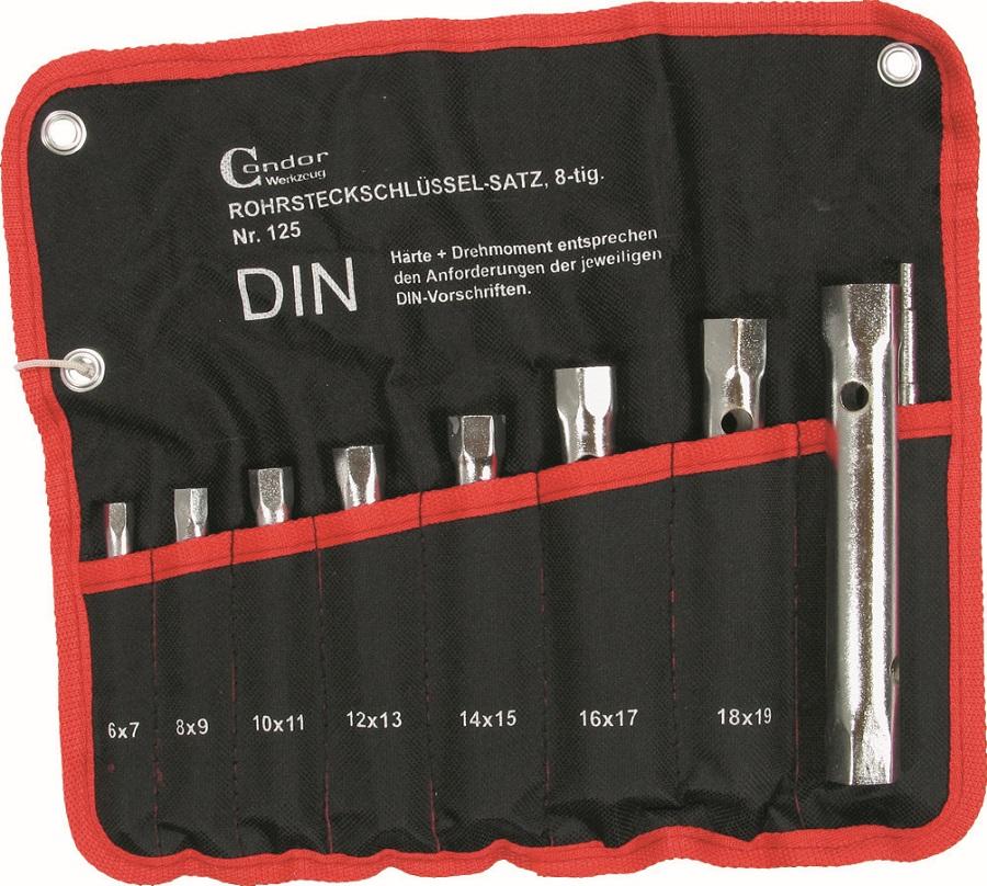 Trubkové kľúče sada, 8-dielna., 6-22 mm