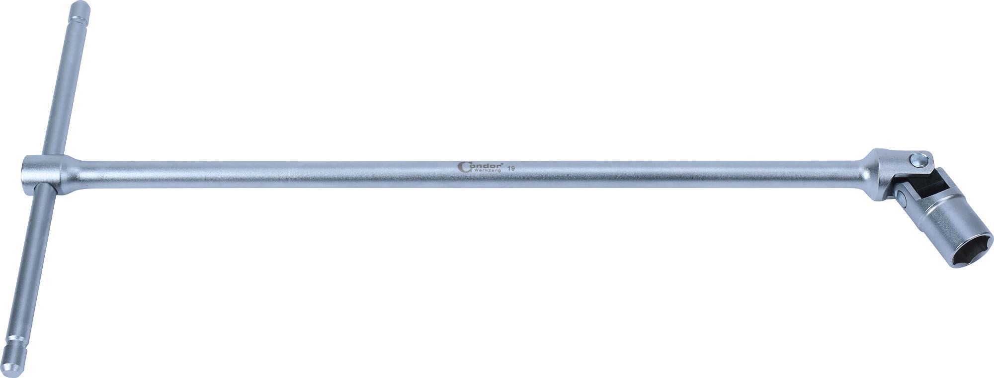"""Kľúč """"T"""" s kĺbom, 500 mm, 6-hran 19 mm"""