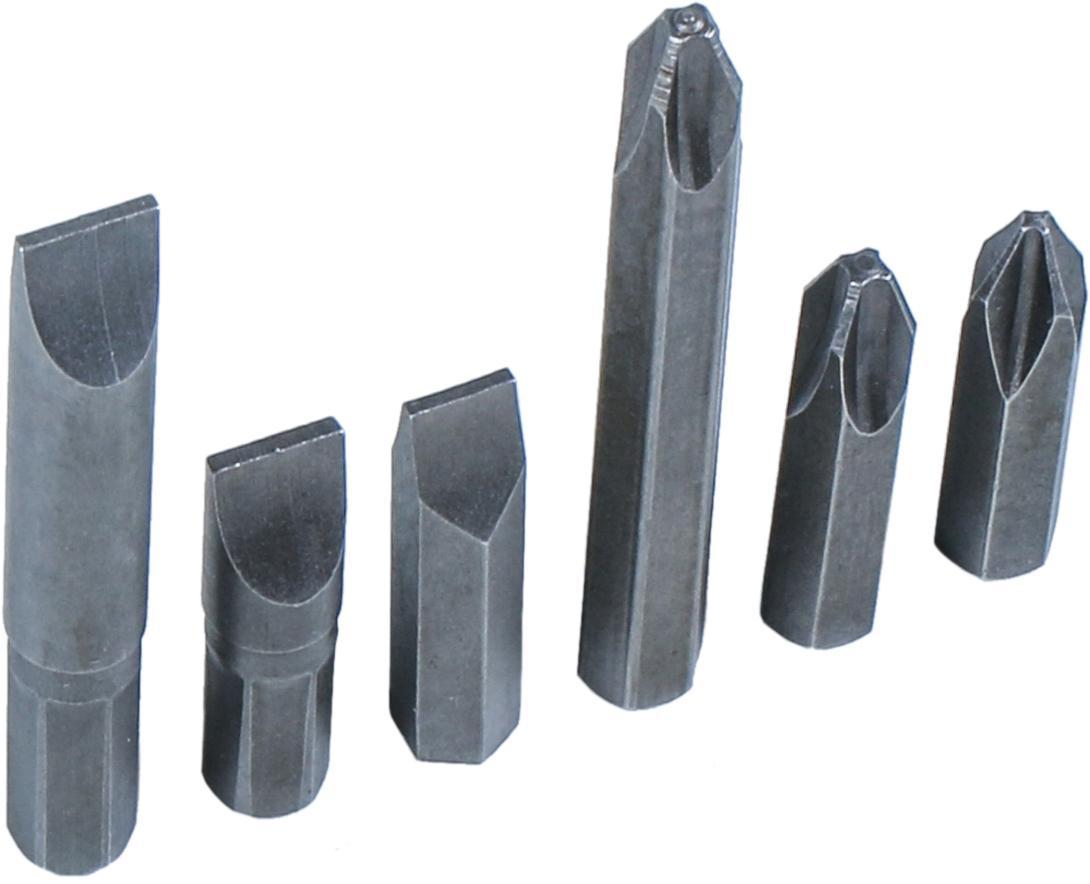 Úderový skrutkovač-Bits, 4-dielna., 8 mm