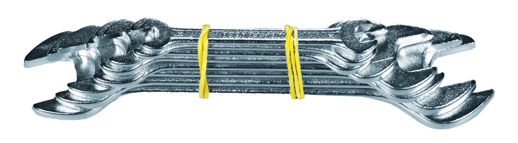 Sada kľúčov vidlica-vidlica, 8-dielna., CrV oceľ, 6-22 mm