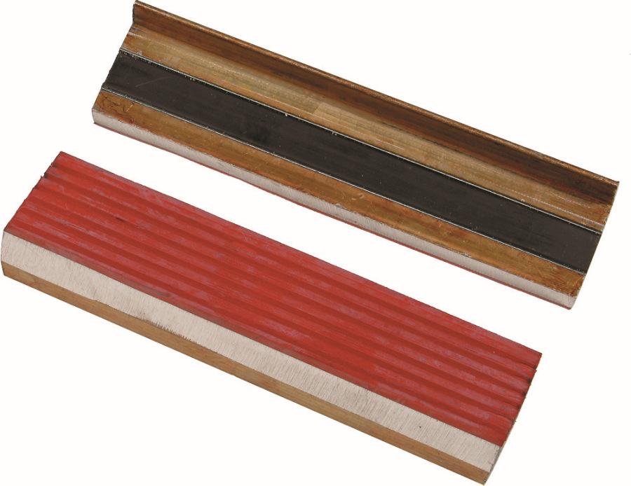 Mäkké vložky do zveráku, šírka čeľuksi 125 mm