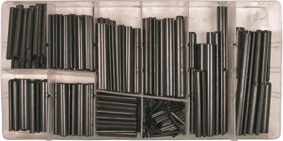 Sada pružné kolíky, 315-dielna., ø 2-10 mm, 5-50 mm dlhá