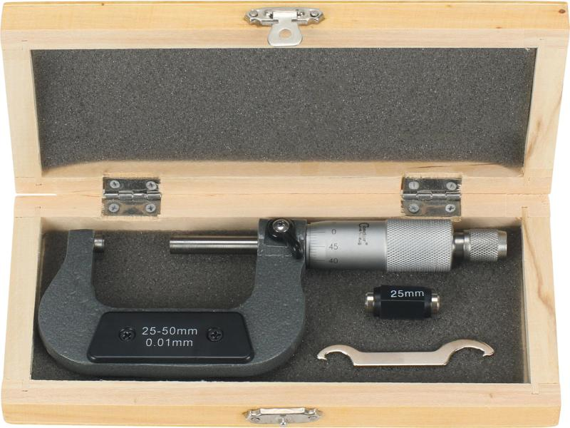 Mikrometer, 1/100 mm, 25-50 mm