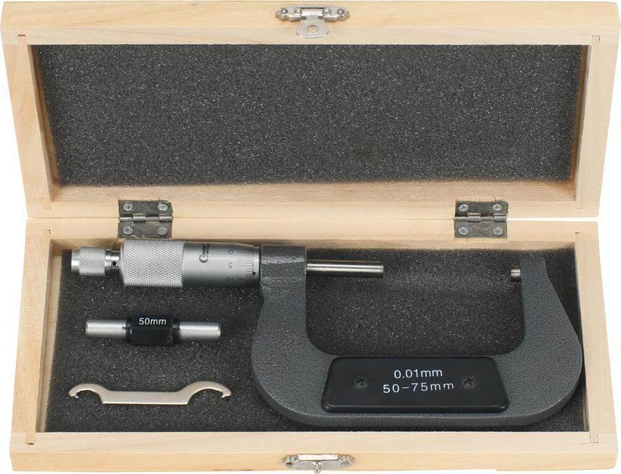 Mikrometer, 1/100 mm, 50-75 mm