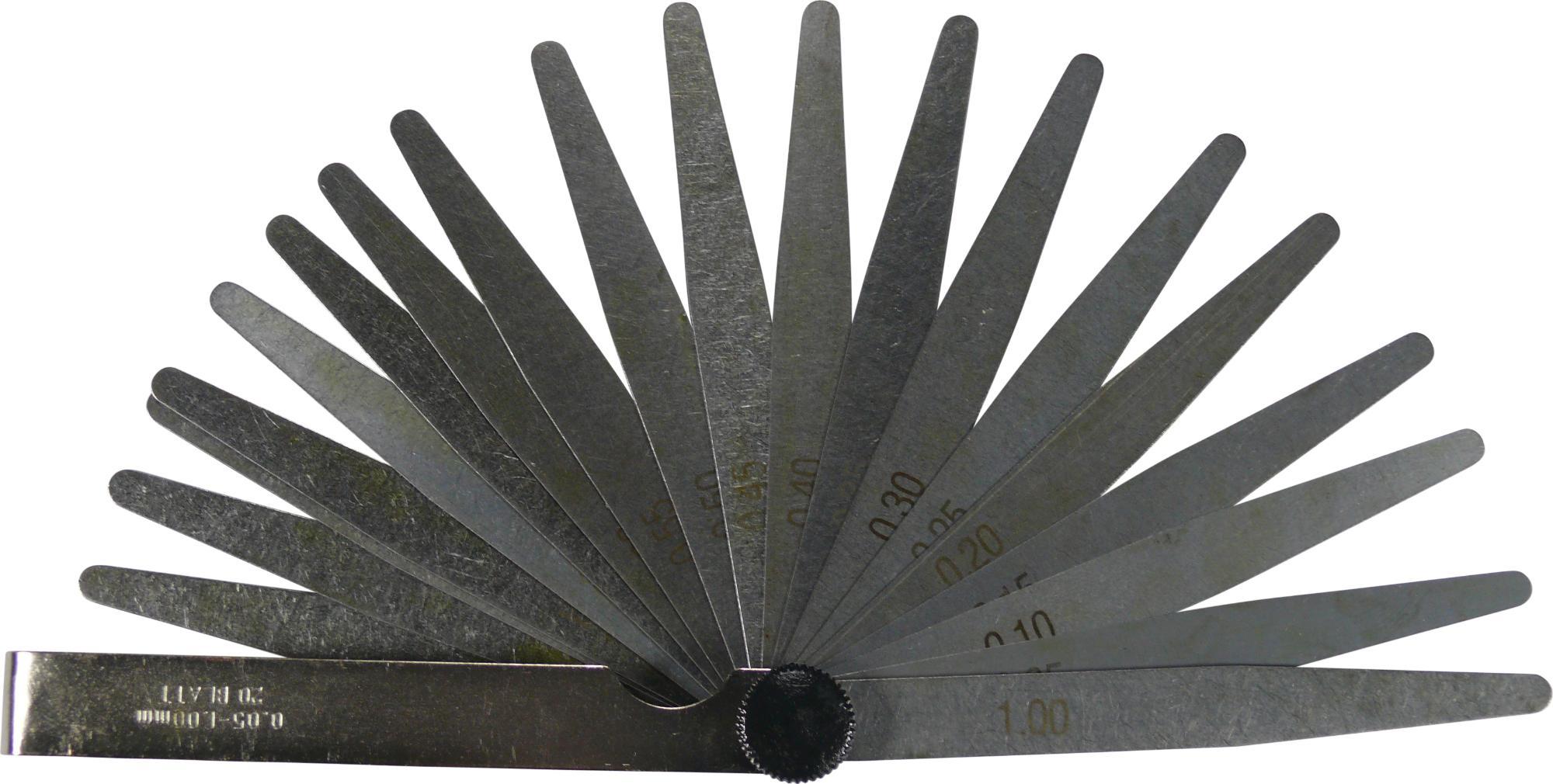 Škáromer, 20 liks, 100 mm, 0.05-1.00 mm