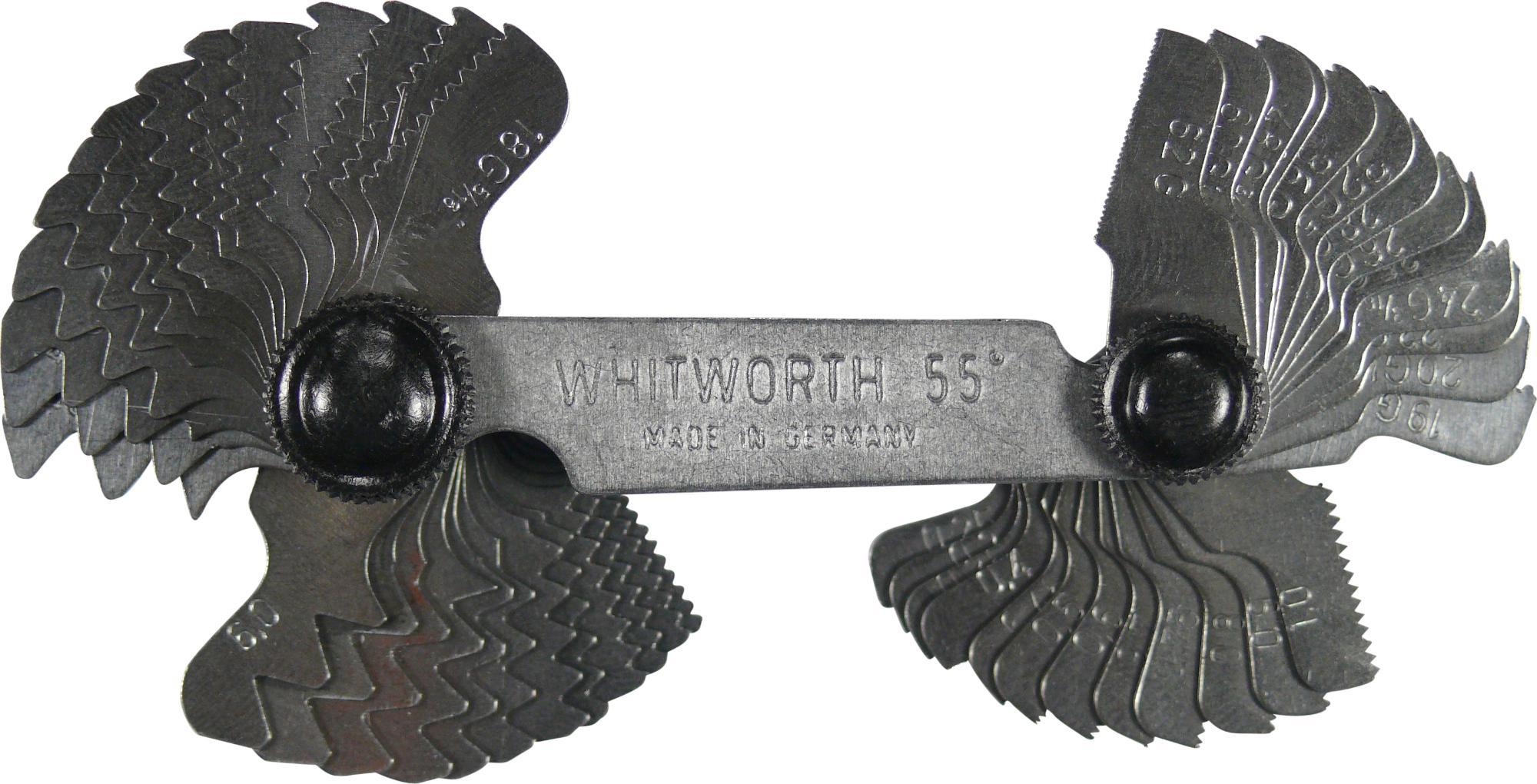 Závitové mierky, 52 liks, metrisch/whitworth