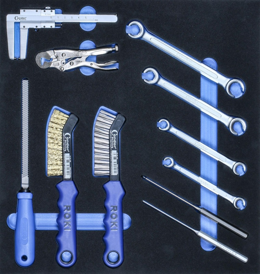 Brake Tool Kit in Foam 2/3, 11 pcs.