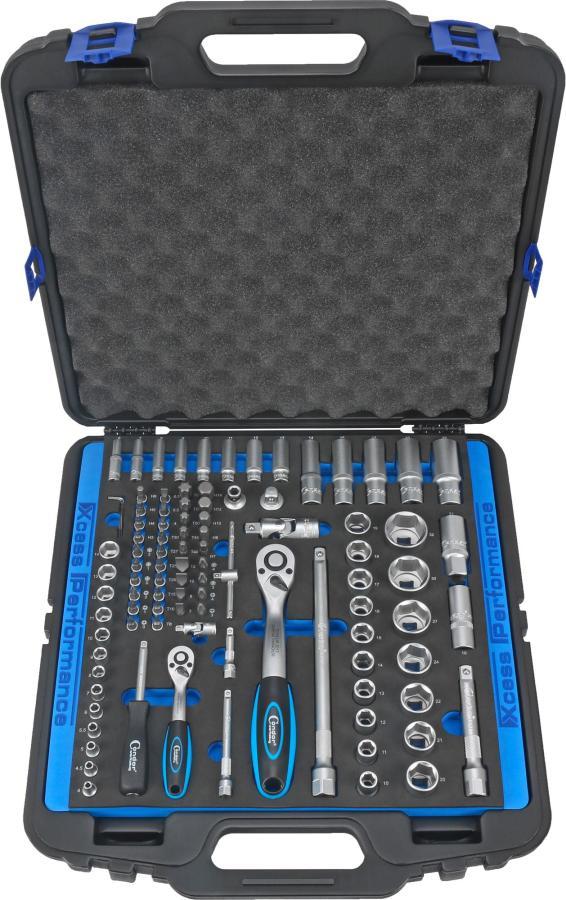 """Socket Set, 98 pcs., 1/4+1/2"""", hex 4-32 mm"""
