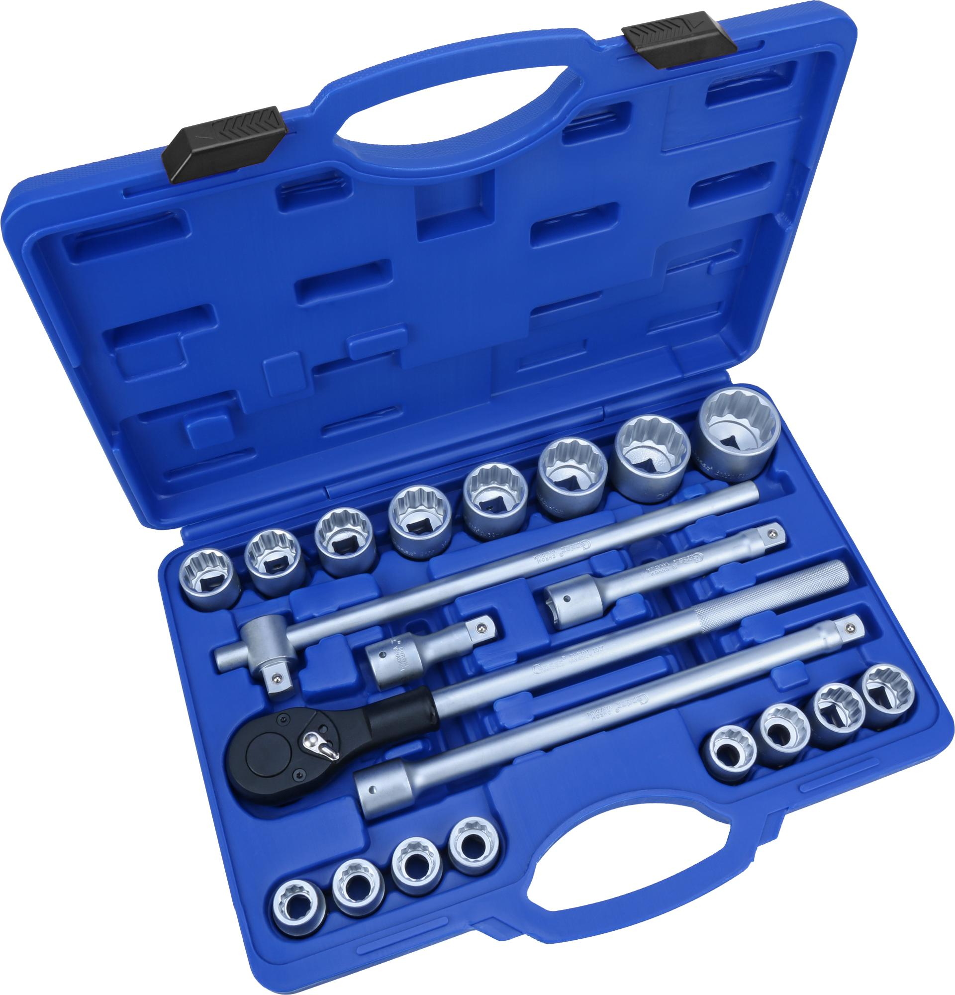 "Socket Set, 21 pcs., 3/4"", bi-hex 19-50 mm"