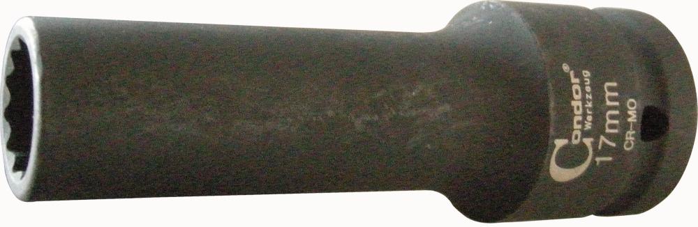 """Nástavec kovaný, 3/4"""", 12-hran 17 mm"""