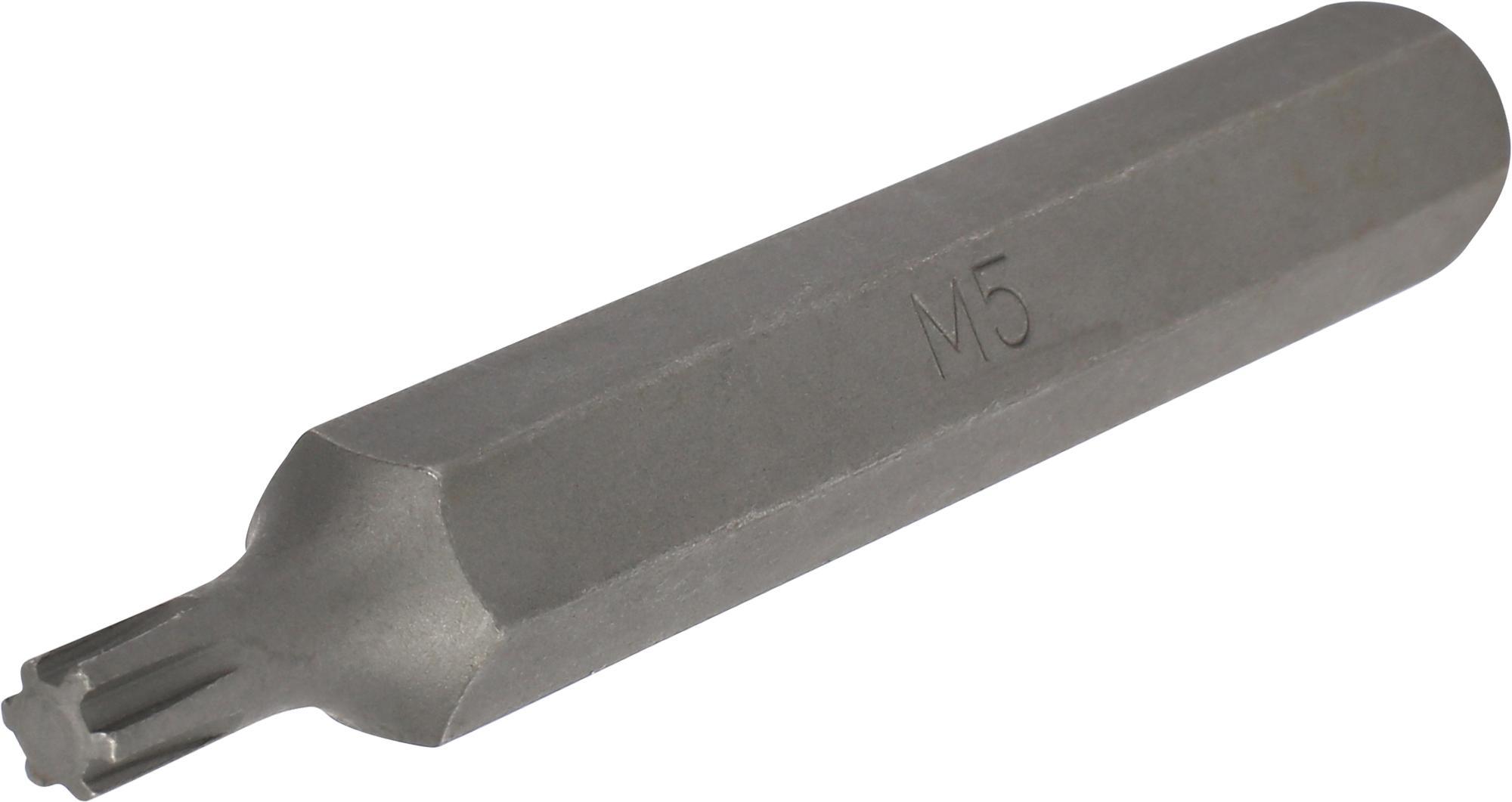 Bit, 10 mm 6-hran, Keilnut M5x75 mm