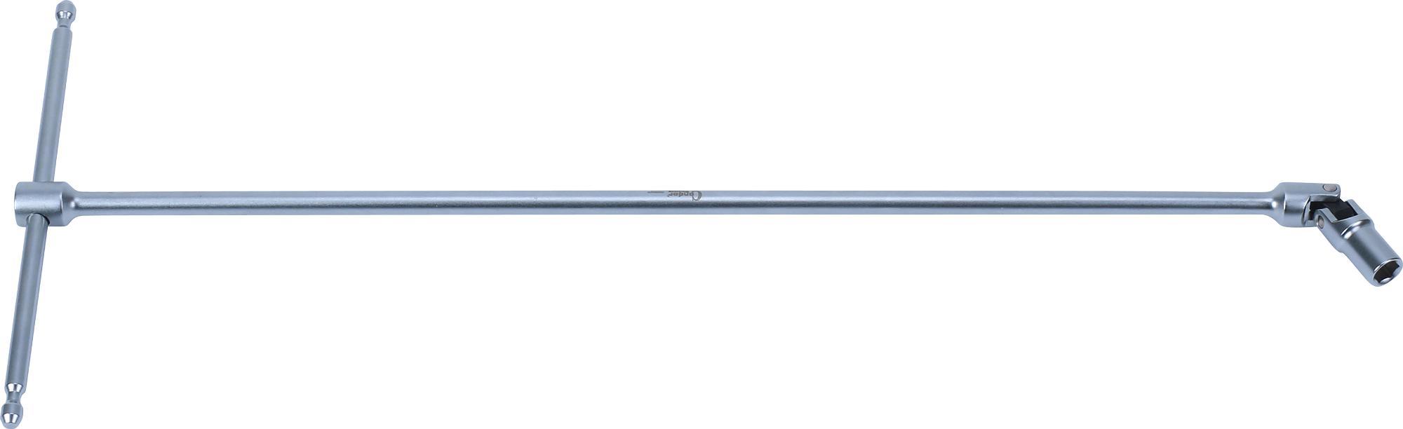 """Kľúč """"T"""" s kĺbom, 395 mm, 6-hran 7 mm"""