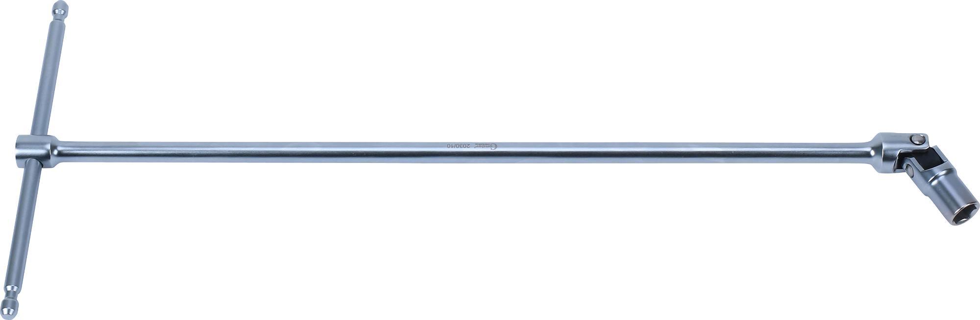 """Kľúč """"T"""" s kĺbom, 400 mm, 6-hran 10 mm"""