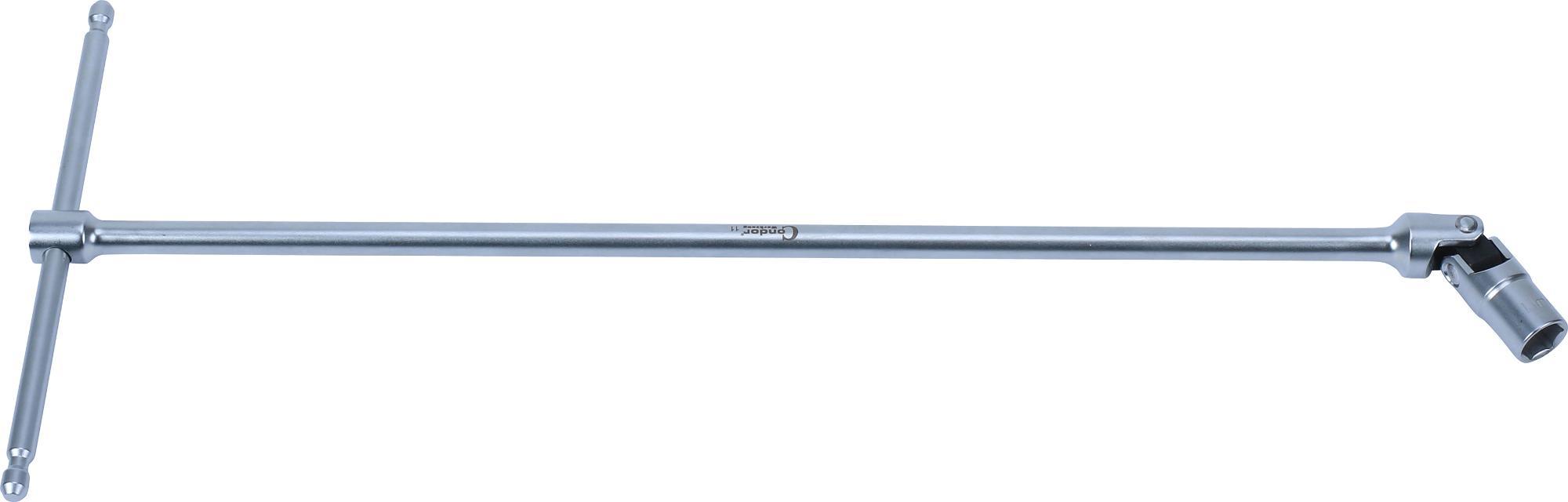 """Kľúč """"T"""" s kĺbom, 400 mm, 6-hran 11 mm"""