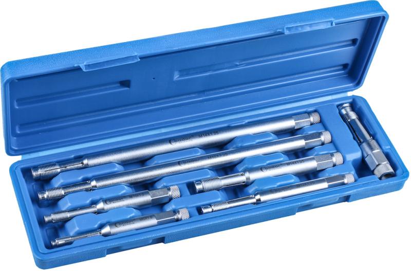 Glow-/Spark Plug Thread Restorer Set, 7 pcs.