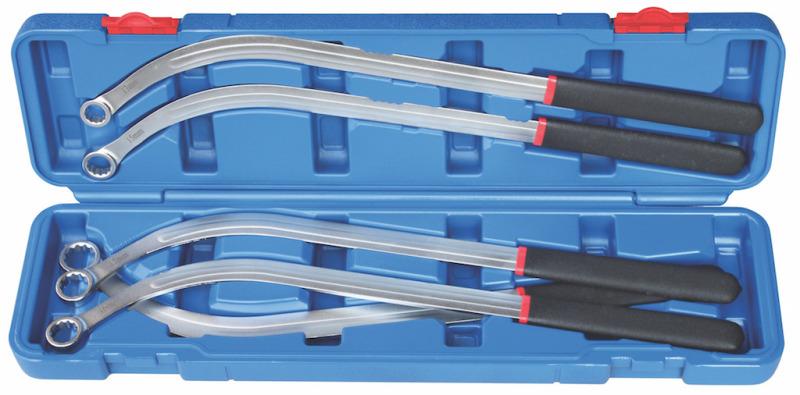 Napínače-kľúče-sada, 5-dielna., 460 mm, 13-19 mm