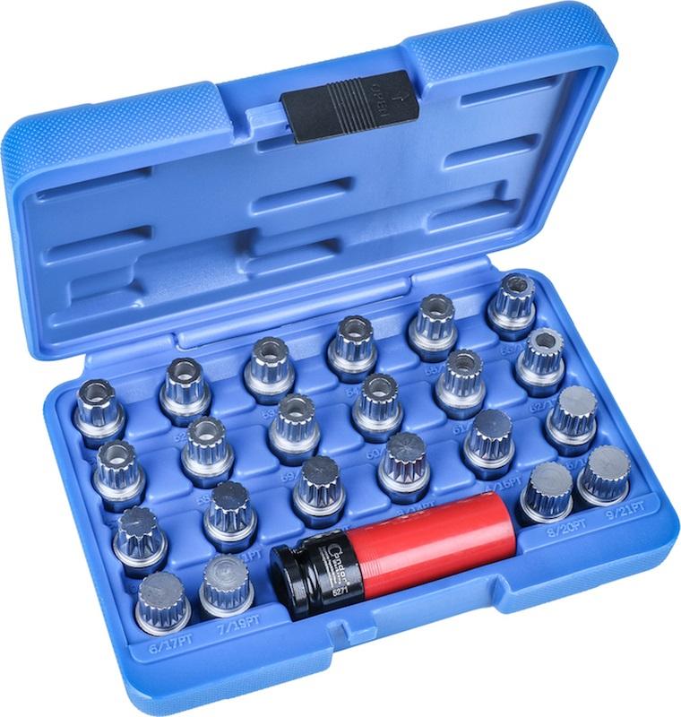 Rim Lock Socket Set, 23 pcs., VW / Audi