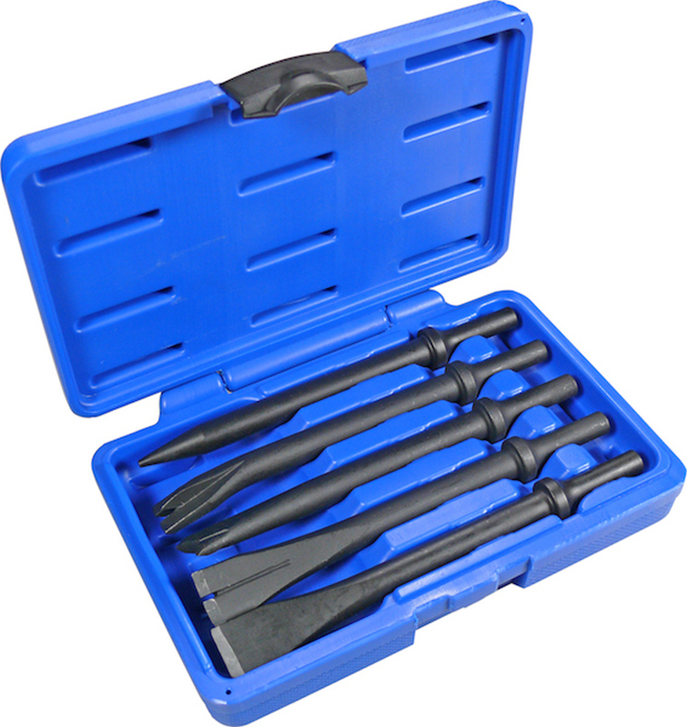 Specialist Chisel Set, 5 pcs., for Air Hammers, ø 10 mm