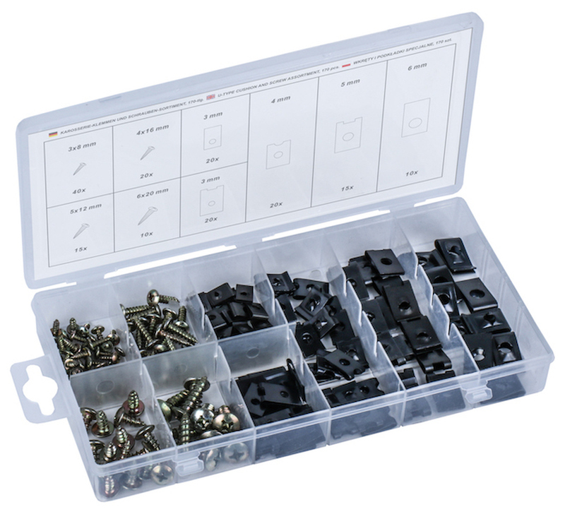 U-Type Cussion and Screw Set, 170 pcs.
