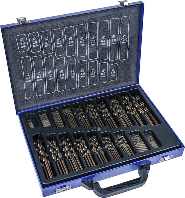 HSS Twist Drill Set, 5% cobalt alloy, 170 pcs., 1-10 mm