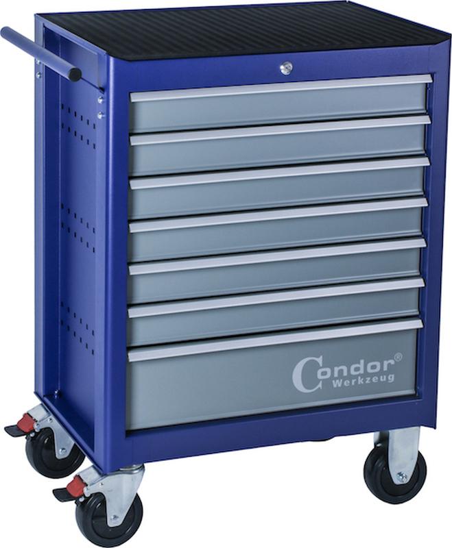 Dielenský vozík, 7 šuflíkov, prázdny