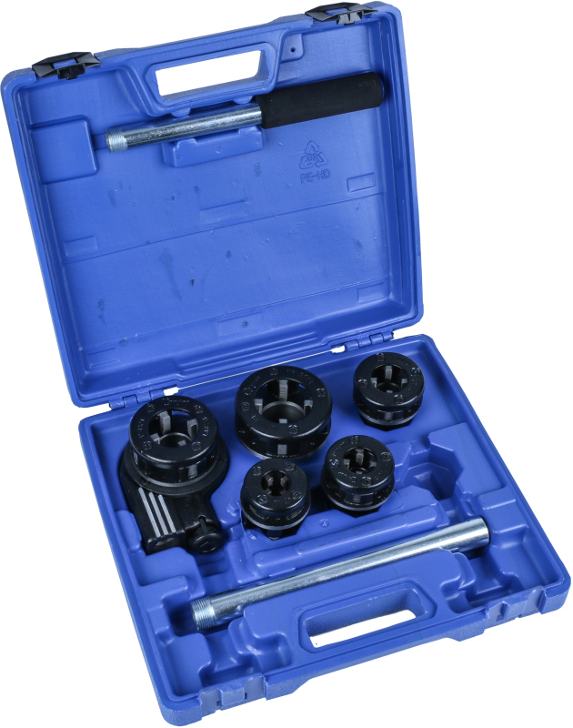 Ratchet Pipe Threading Set, 8 pcs., 3/8-1.1/4""