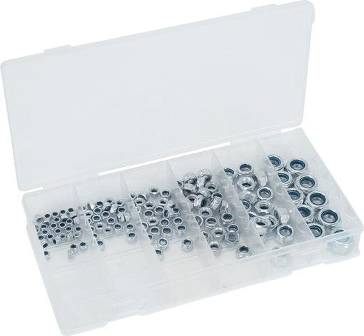 Screw Nut Assortment, self-locking, 146 pcs.